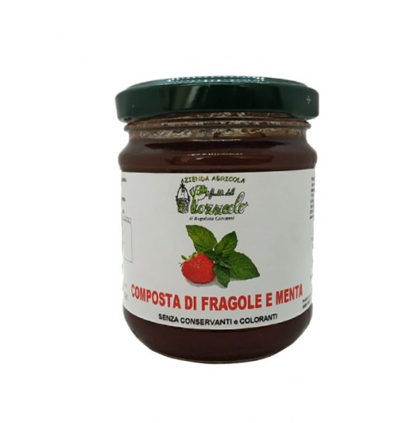Composta di Fragole e Menta - I Frutti del Pozzeolo