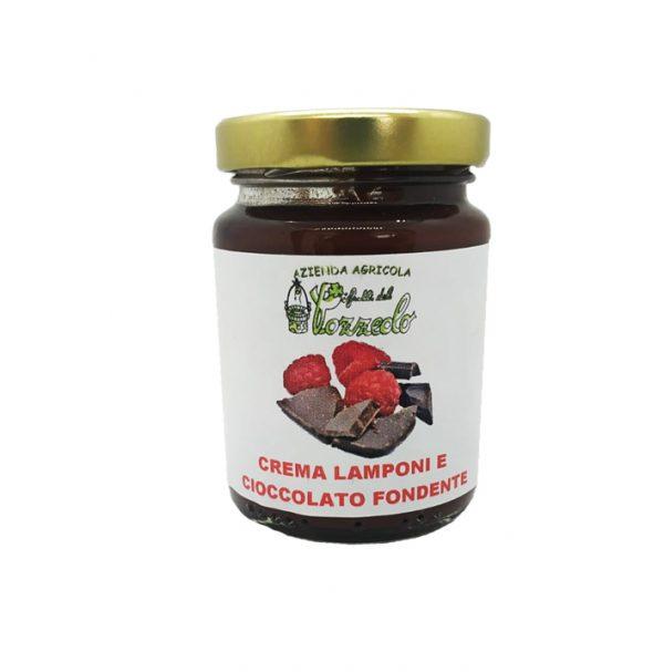Crema di Lamponi e Cioccolato Fondente - I Frutti del Pozzeolo